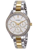 Citizen Analog White Dial Women's Watch - ED8164-59A