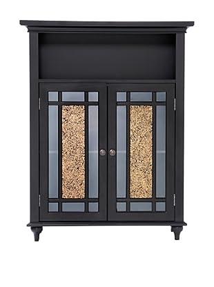 Elegant Home Fashions Whitney Double-Door Floor Cabinet, Dark Espresso