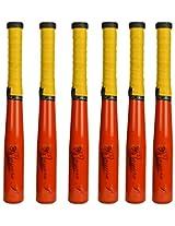 Mayura P Aluminum Alloy Women's Softball Bat, 24 inch, Set of 6 (Red)