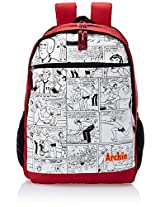 Archie School Bag, Red/Black (Extra Large)