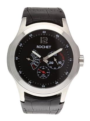 Rochet W411415 - Reloj de Caballero movimiento cuarzo con correa de piel Negro