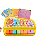 Shopaholic Awesome Piano Shape Multicolor Xylophone For Kids Musical Toy With 8 Notes - 1227