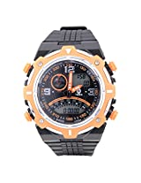 Times Analogue-Digital Black Dial Boys Watch - A001