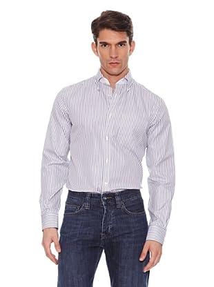 Hackett Camisa Rayas (Gris / Blanco)