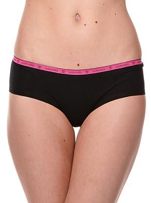 Cotonella Pack 2 Mini Culotte Logo (negro)