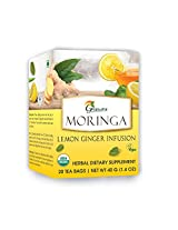 Moringa Lemon Ginger Infusion - 20 Tea bags / Box - Organic Certified
