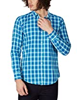 GHPC Men's 100% Cotton Casual Shirt(CS62702_42_Green)