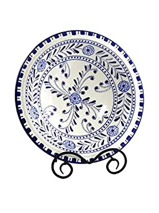 Le Souk Ceramique Azoura Small Serving Bowl, Blue/White