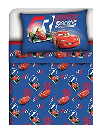 Disney Betttuch und Kissenbezug Cars Race