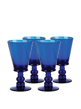 Impulse! Set of 4 Roma 8-Oz. Goblets, Cobalt