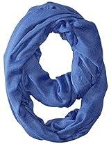 La Fiorentina Women's Solid Infinity Scarf, Blue, One Size