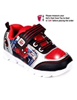 Spiderman Sport Shoes Lace Up With Velcro Closure - Red And Black