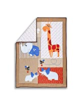 Dream On Me Jungle Babies Reversible 5 Piece Portable Crib Set
