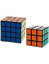 Shengshou Magic Cube Puzzle Set, 4X4 & 3X3 (Black)