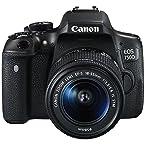 Canon EOS 750D 24.2MP Digital SLR Camera (Black) with 18-55 STM Lens, Memory card, Camera Bag