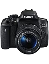 Canon EOS 750D 24.2MP Digital SLR Camera (Black) with 18-55 STM Lens, Memory card, Camera Bag
