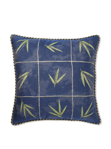 Elsa Blue Tonga Blue with Cord Indoor/Outdoor Pillow, 22