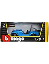 Bburago Jeep Wrangler Scale-1:24 Die Cast Toy Car (Blue)
