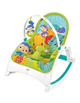 Fisher Price Rainforest Friends Newborn to Toddler Portable Rocker, Multi Color