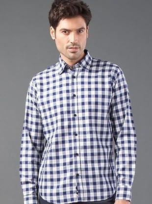 Roberto Verino Camisa Cuadros (marino / blanco)