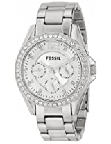 Fossil Riley Analog Silver Dial Women's Watch - ES3202