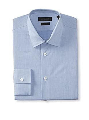Calvin Klein Collection Men's Marianna Slim Fit Dress Shirt (Provence Blue)