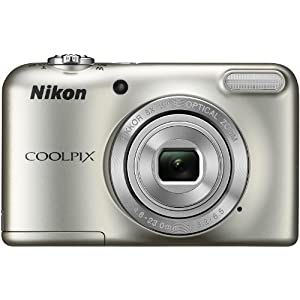 Nikon Coolpix L29 16.1 MP Point and Shoot Camera (Silver) with 5x Optical Zoom, Memory Card and Camera Case