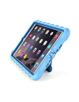 Gumdrop Cases Apple iPad mini 4 - Hideaway with Stand - Light Blue - Royal Blue - Silicone - Rugged Shock Absorbing Protective Dual Layer Cover Case