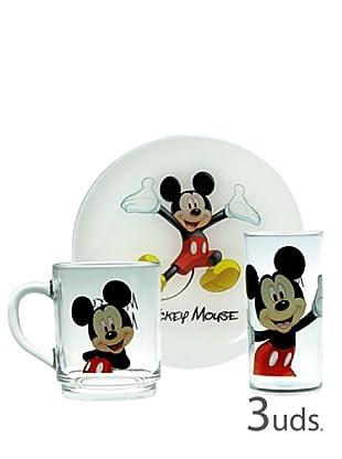 Luminarc Set 3 Piezas Desayuno Modelo Mickey Colors