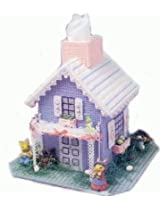 DIY Crafts needlework embroidery kits for home decoration Christmas decor Purple house(Not Included Frame)