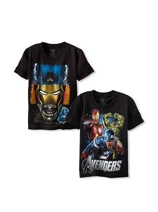 Freeze Boy's Avengers 2-Pack T-Shirt Bundle (Navy/Black)