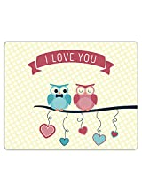 Lovely Collection I Love You Owl Mousepad