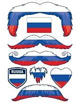 StacheTATS Russia Temporary Mustache Tattoos