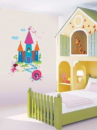 Vinilo Adhesivo Princesa y el Castillo Multicolores