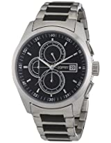 Esprit Circolo Chrono Analog Black Dial Men's Watch - ES104091005