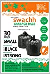 Swachh Garbage Bags, Black Colour, Standard Size, 43cms x 54cms, 19inches x 21inches, 30pcs/Packet (03 Packets of 30each) = 90pcs
