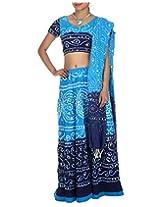 Rajrang Womens Cotton Blue Long Lehenga Cholis