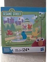 24 pc. Sesame Street Puzzle Park Scene