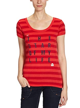 ONLY T-Shirt, gestreift (Rot)