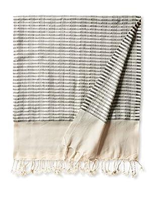 Nomadic Thread Turkish Towel Chic, Natural/Black