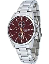 Seiko Analog Brown Dial Men's Watch - SNAF05P1