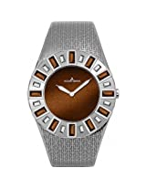 Jacques Lemans Cannes Brown Dial Stainless Steel Ladies Watch