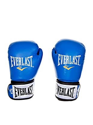 Everlast Guantes de Piel 8 oz Fighter (Azul / Negro)