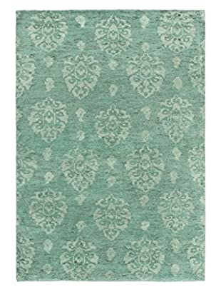 eCarpet Gallery One-of-a-Kind Hand-Knotted Royal Maroc Rug, Teal, 4' x 5' 10