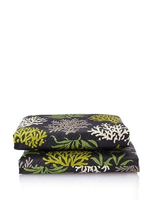Waverly Set of 2 Sun-n-Shade Marine Life Squared Seat Cushions (Onyx)