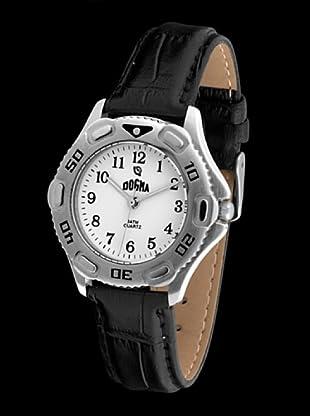 Dogma G1001 - Reloj de Caballero movimiento de quarzo con correa de piel negro