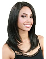 Bobbi Boss Human Lace Front Wig Mhlf B Color #1 B/30 Off Black/Medium Brown Red