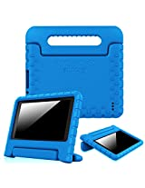 """Fintie Fire 7 2015 Case - Kiddie Series Light Weight Shock Proof Convertible Handle Stand Cover Kids Friendly for Amazon Fire 7 Tablet (Fire 7"""" Display 5th Generation - 2015 release), Blue"""