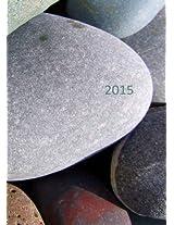 2015: dicker Tagebuch Kalender - STEINE - DIN A4 - 1 Tag pro Seite