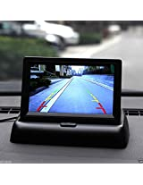"Alria 4.3"" TFT LCD Rear View Foldable Monitor Display for DVD, VCR, GPS, Car Reverse Camera"